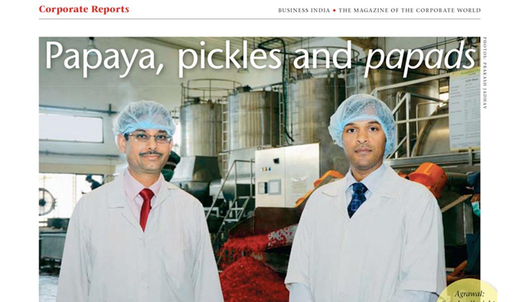 Papaya, pickles and papads
