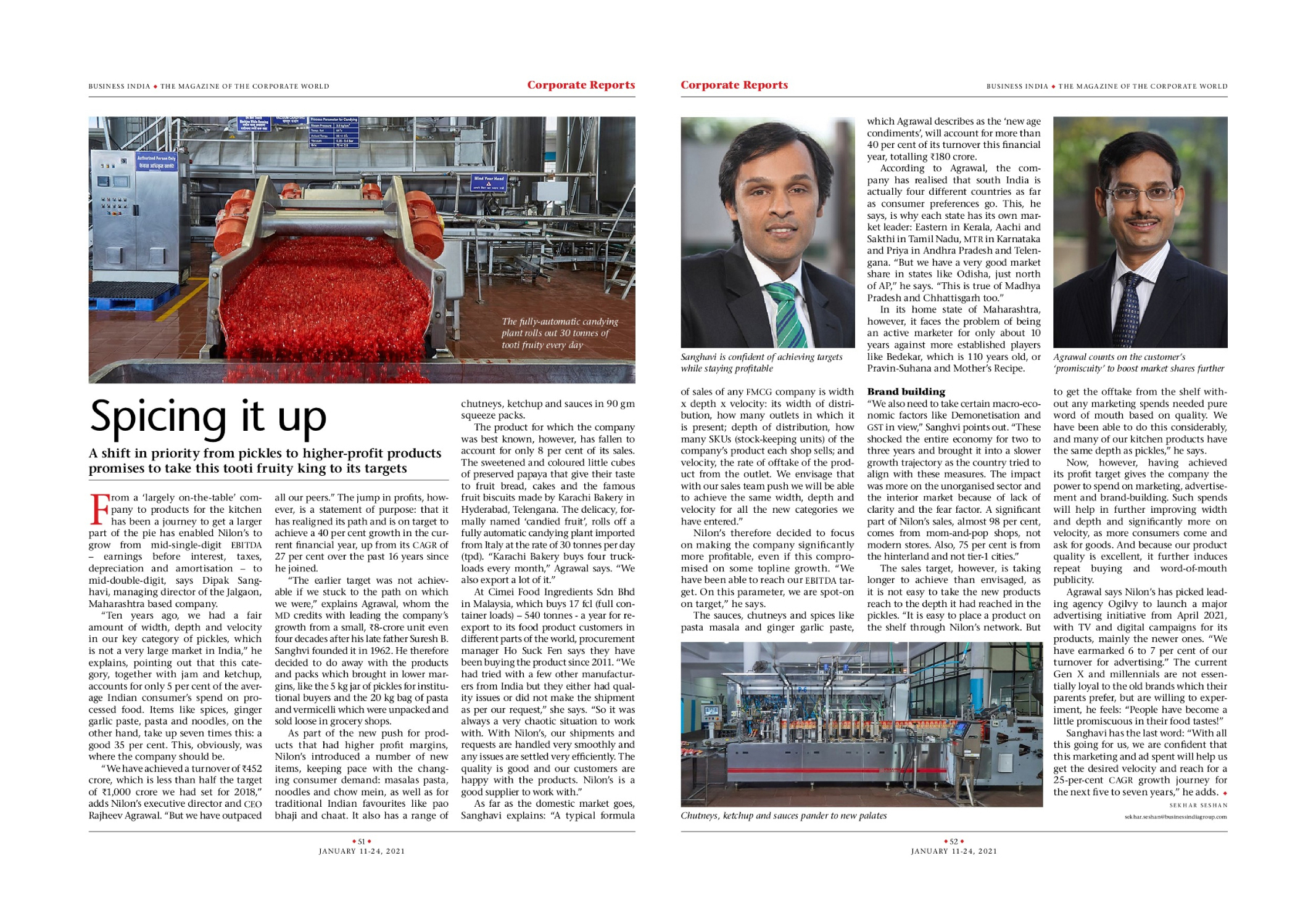 Mr. Dipak Sanghavi and Mr. Rajheev Agrawal on transforming Nilon's